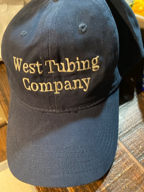 West Tubing Company Caps are available in the Gift Shop
