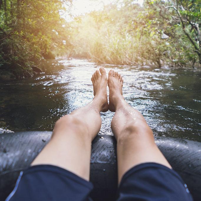 Floating down the river - Brasstown Creek - Warne, NC