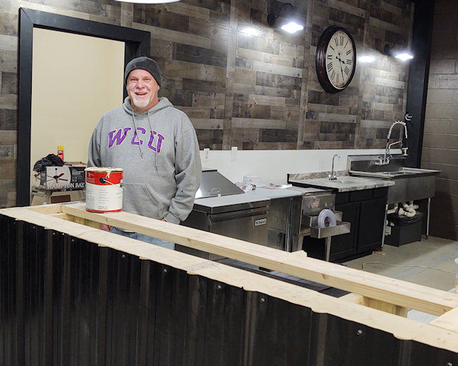 Dave West, Founder, takes a break form a busy renovation schedule.